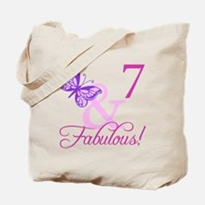 Fabulous 7th Birthday For Girls Tote Bag