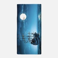 Pirate Ship Beach Towel