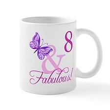 Fabulous 8th Birthday For Girls Mug