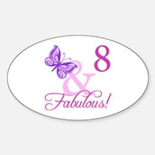 Fabulous 8th Birthday For Girls Decal