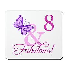 Fabulous 8th Birthday For Girls Mousepad