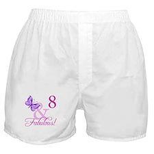 Fabulous 8th Birthday For Girls Boxer Shorts