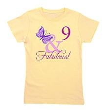 Fabulous 9th Birthday For Girls Girl's Tee