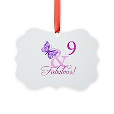 Fabulous 9th Birthday For Girls Ornament