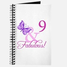 Fabulous 9th Birthday For Girls Journal