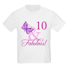 Fabulous 10th Birthday For Girls T-Shirt