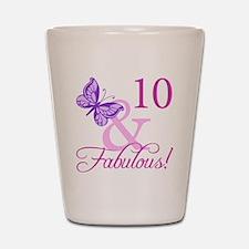 Fabulous 10th Birthday For Girls Shot Glass