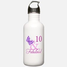Fabulous 10th Birthday For Girls Water Bottle