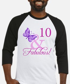 Fabulous 10th Birthday For Girls Baseball Jersey