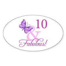 Fabulous 10th Birthday For Girls Decal