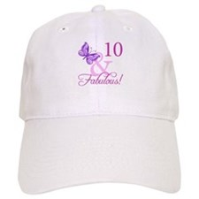 Fabulous 10th Birthday For Girls Baseball Cap