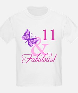 Fabulous 11th Birthday For Girls T-Shirt