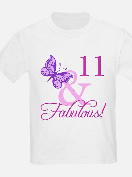 Fabulous 11th Birthday For Girls T-Shirt