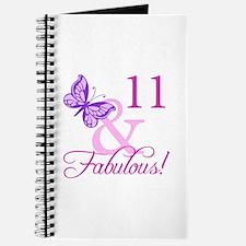 Fabulous 11th Birthday For Girls Journal
