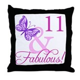 11 year old girls Throw Pillows