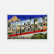 Riverside California Greetings Rectangle Magnet (1