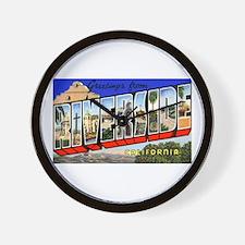 Riverside California Greetings Wall Clock
