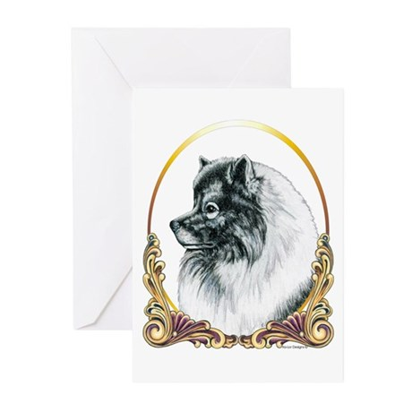 Keeshond Holiday/Christmas Greeting Cards (Package