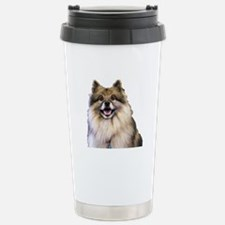 Keeshond Head Shot Travel Mug