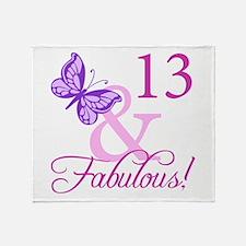 Fabulous 13th Birthday For Girls Throw Blanket