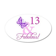 Fabulous 13th Birthday For Girls Wall Decal