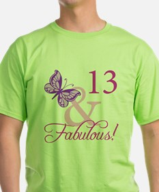 Fabulous 13th Birthday For Girls T-Shirt