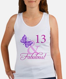 Fabulous 13th Birthday For Girls Women's Tank Top