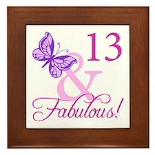 Fabulous 13th Birthday For Girls Framed Tile