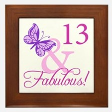 Fabulous 13th Birthday For Girls Framed Tile