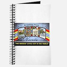 Reno Nevada Greetings Journal