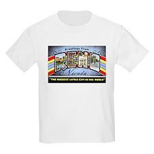 Reno Nevada Greetings (Front) Kids T-Shirt