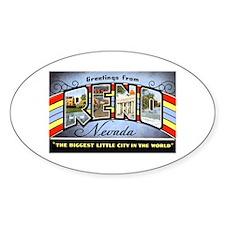 Reno Nevada Greetings Oval Decal
