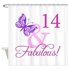 Fabulous 14th Birthday For Girls Shower Curtain