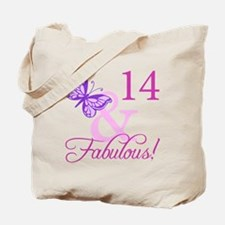Fabulous 14th Birthday For Girls Tote Bag