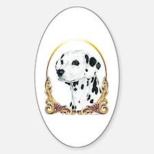 Dalmatian Holiday/Christmas Oval Decal
