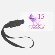 Fabulous 15th Birthday For Girls Luggage Tag