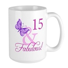 Fabulous 15th Birthday For Girls Mug