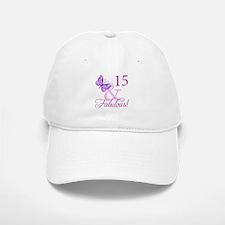 Fabulous 15th Birthday For Girls Baseball Baseball Cap