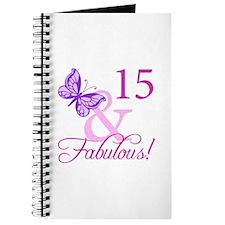 Fabulous 15th Birthday For Girls Journal