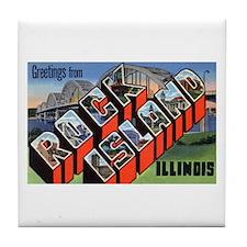Rock Island Illinois Greetings Tile Coaster