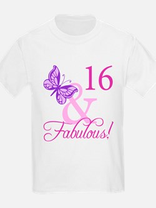 Fabulous 16th Birthday For Girls T-Shirt