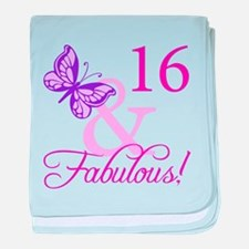 Fabulous 16th Birthday For Girls baby blanket