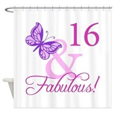 Fabulous 16th Birthday For Girls Shower Curtain