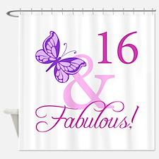 Fabulous 16th Birthday For Girls Shower Curtain