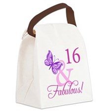 Fabulous 16th Birthday For Girls Canvas Lunch Bag
