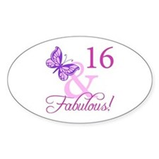 Fabulous 16th Birthday For Girls Decal