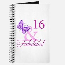 Fabulous 16th Birthday For Girls Journal