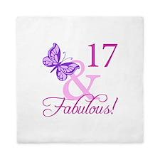 Fabulous 17th Birthday For Girls Queen Duvet