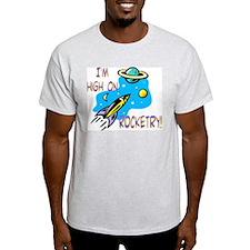 Rocket Cafe Ash Grey T-Shirt