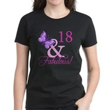 Fabulous 18th Birthday For Girls Tee